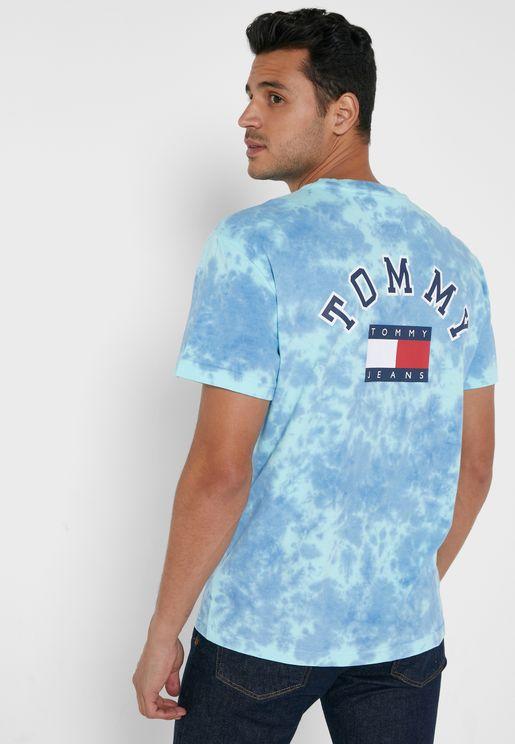Logo Tie Dyed Crew Neck T-Shirt