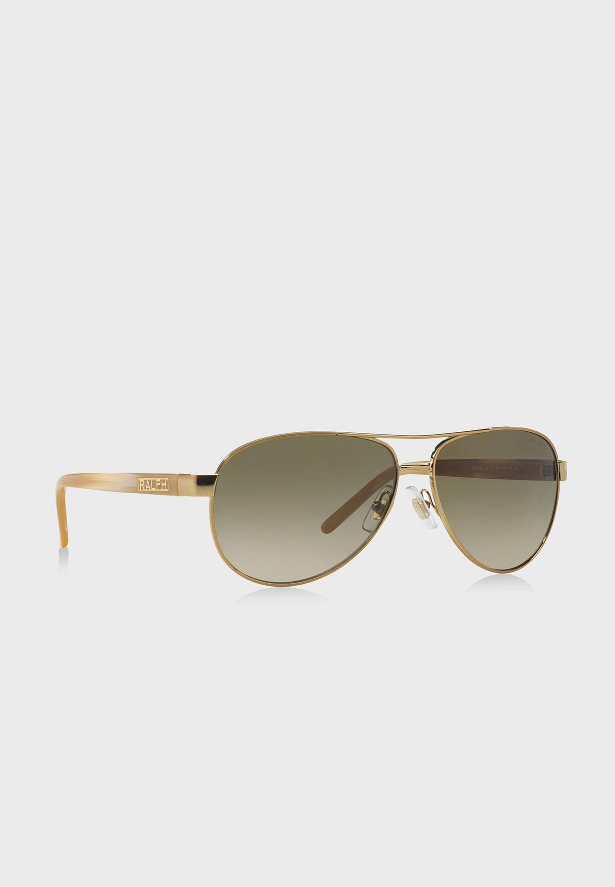 fdfaf21cfde Shop Polo Ralph Lauren gold Aviator Sunglasses 8.05E+11 for ...