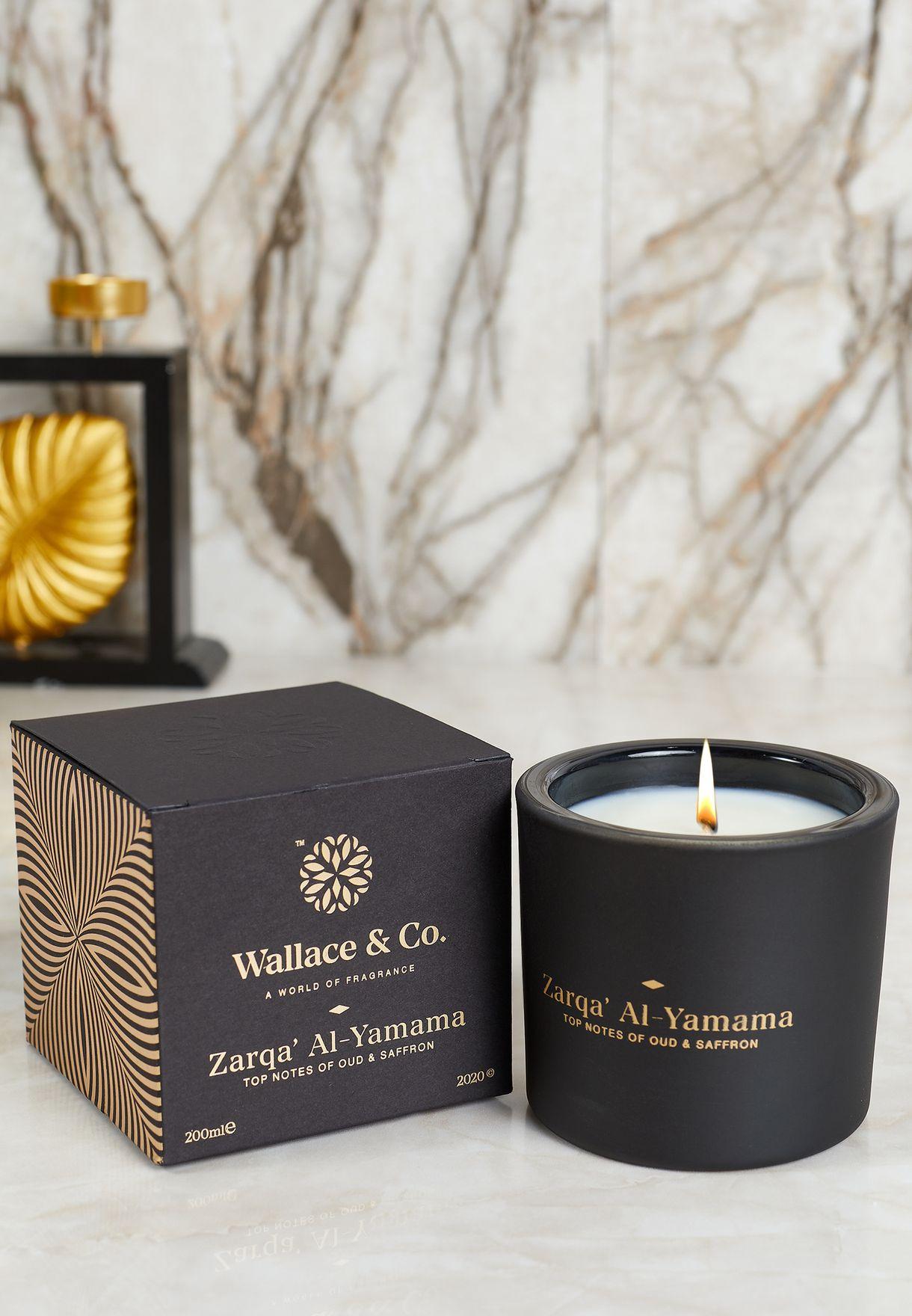 Oud & Saffron Zarqa' Al Yamama Scented Candle 200ml