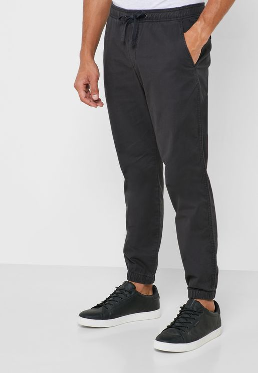 Drawstring Slim Fit Trousers