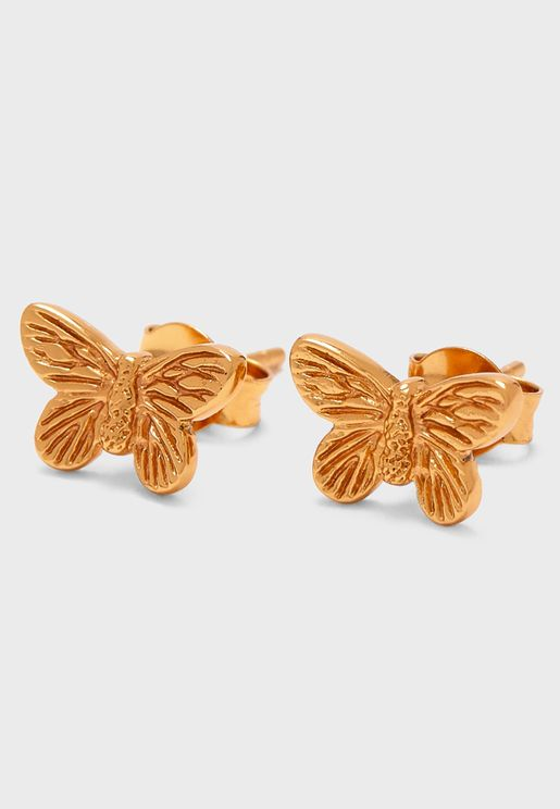 3D Butterfly Stud Earrings