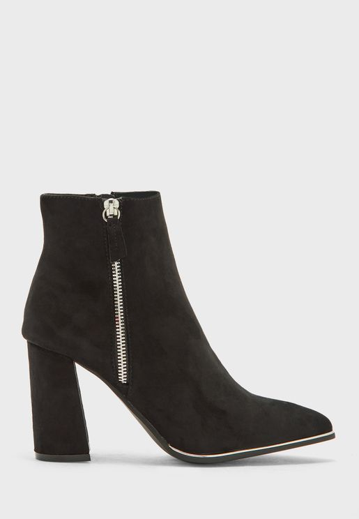 Amaria Zip Detail Ankle Boot
