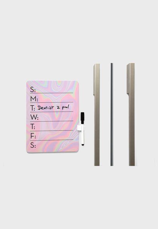 Iridescent Dry Erase Board