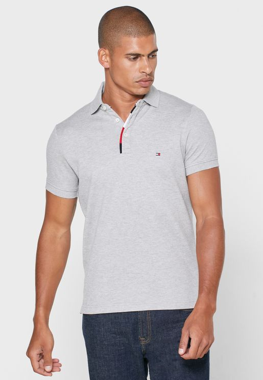 Placket Structure Slim Fit Polo