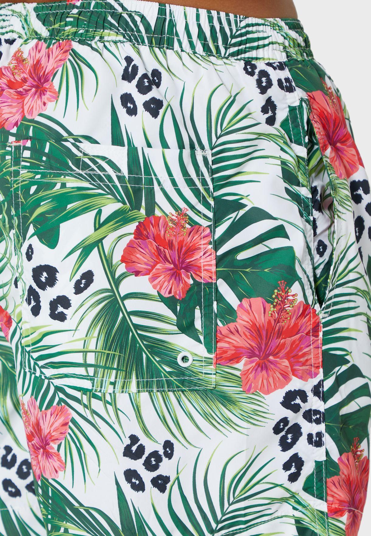 Tropical Print Swim Short