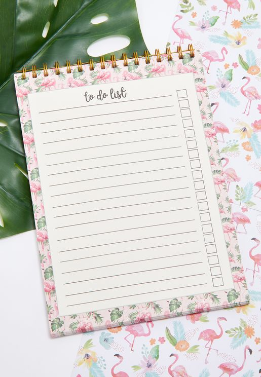 A4 Flamingo To Do List