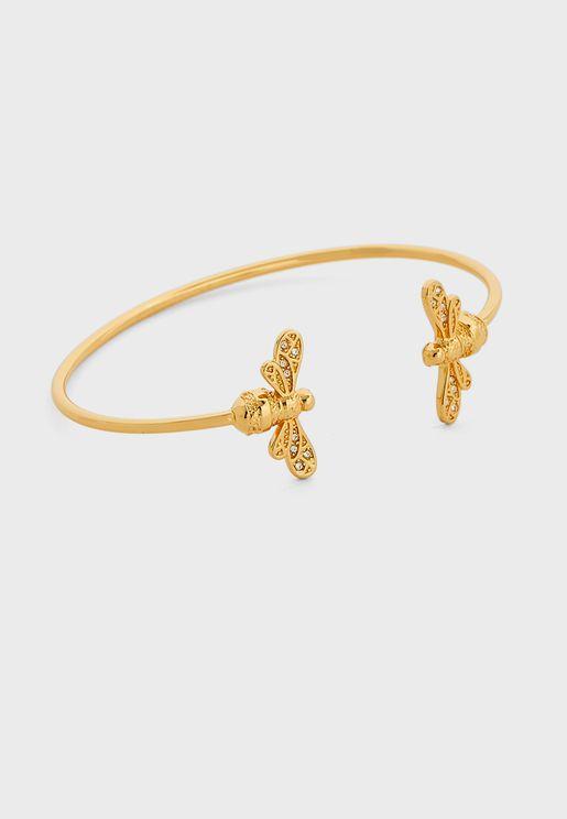 Sparkle Bee Cuff Bracelet