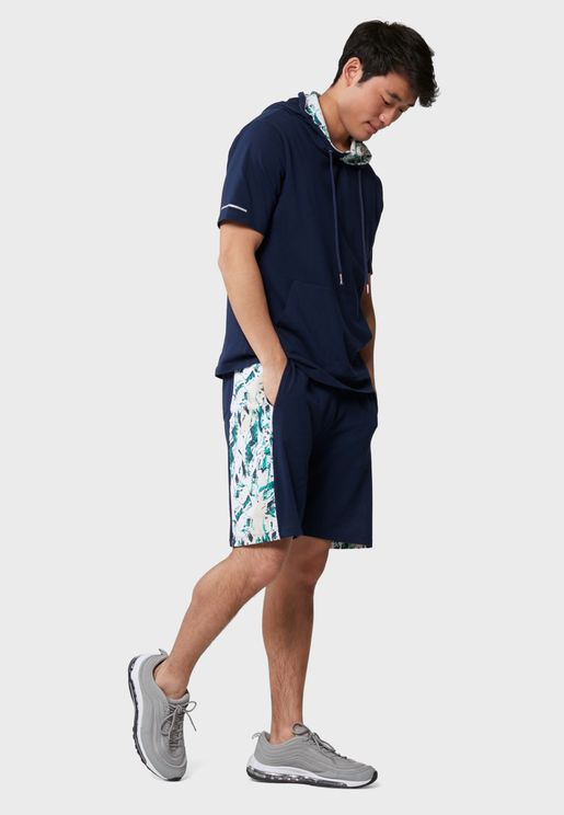 Side Printed Stripe Shorts