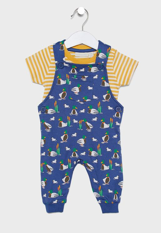 Kids Mallard Dungaree Set