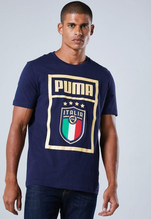 تيشيرت بشعار الاتحاد الايطالي لكرة القدم