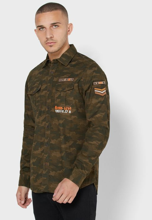 Camo Slim Fit Shirt