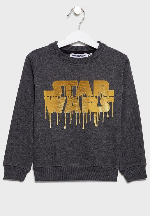 Kids Star War Logo Sweatshirts