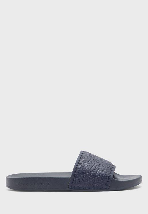 Slide Embossed Flip Flop