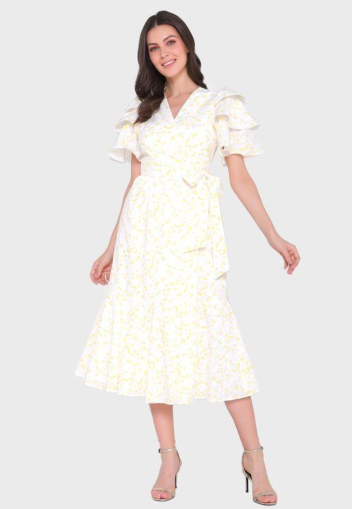 Layered Printed Dress