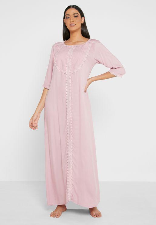 Full Sleeves Long Nightdress