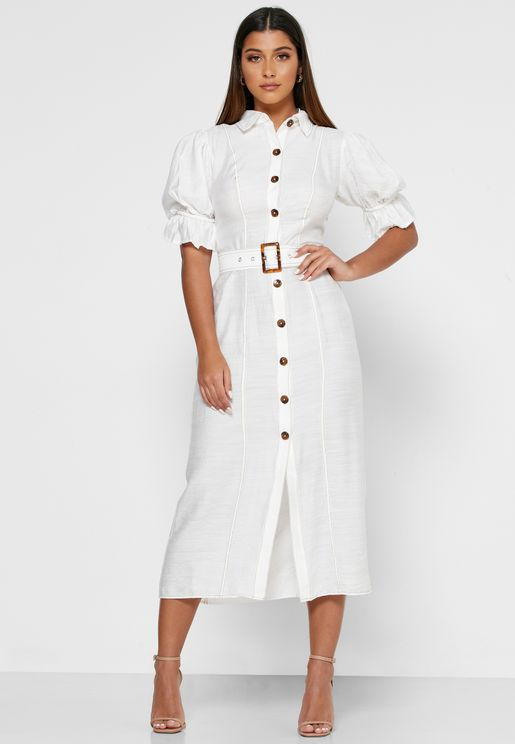 Early On Button Down Shirt Dress