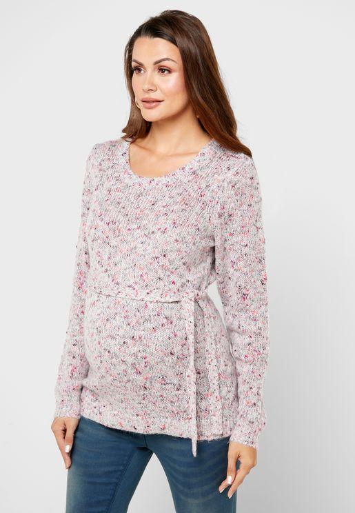Tie Waist Sweater