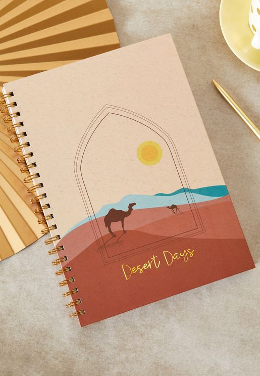 A4 Desert Days Notebook
