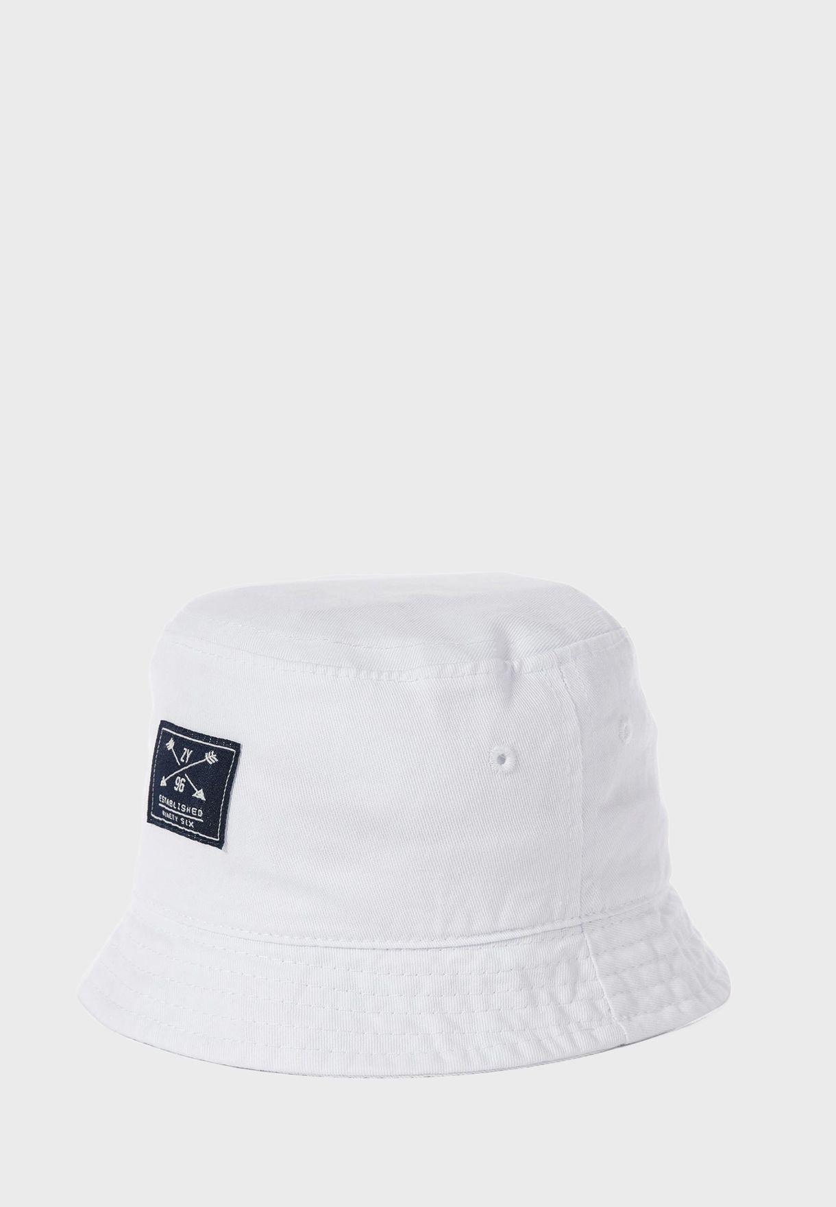 Kids Patch Detail Bucket Hat