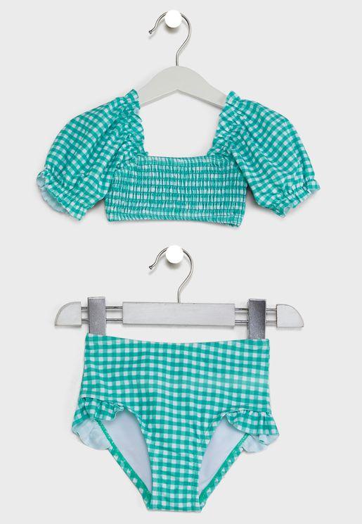 Kids Floral Swimwear