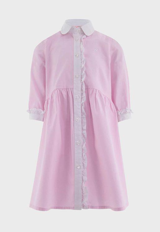 Kids Ruffle Seeve Shirt Dress