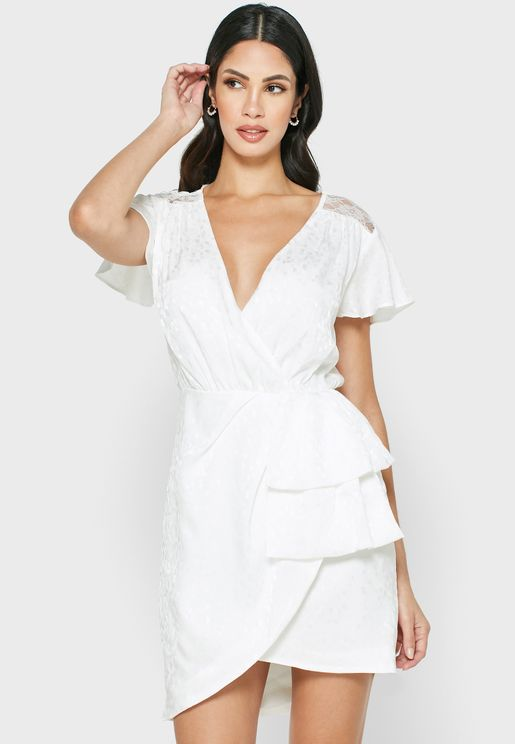 Atmosphere Angel Sleeve Wrap Dress