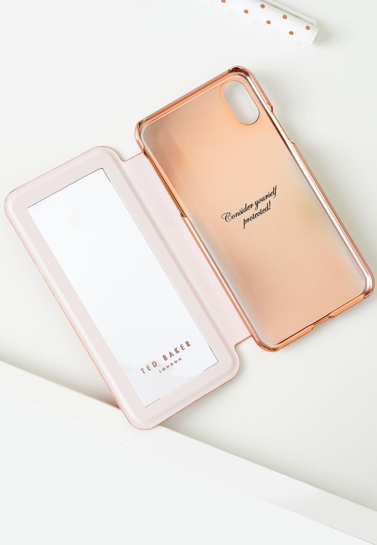 iPhone X/XS/XS Max, 12/Pro/ Max Folio Glitter Pink Case
