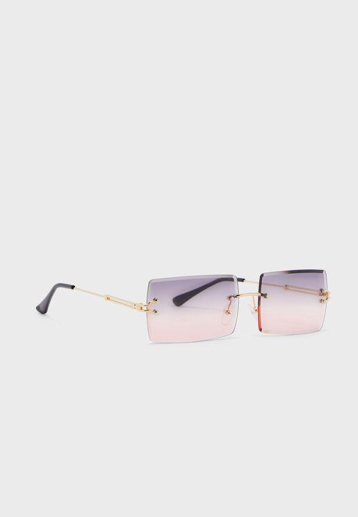 Graduated Lens Rectangle Sunglasses