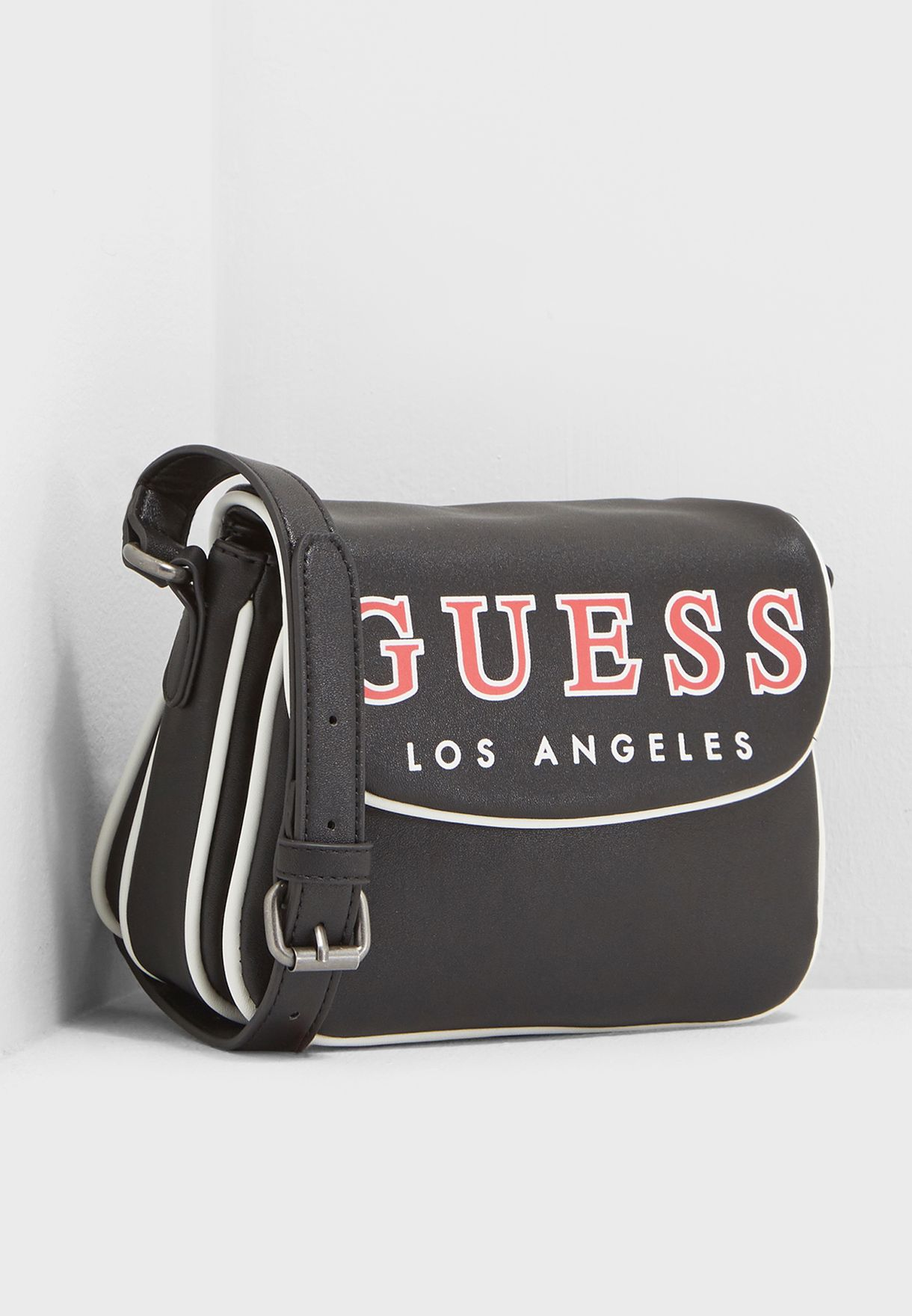 e482e6039 Shop Guess black Classic Flap Crossbody BL696921BLA for Women in ...