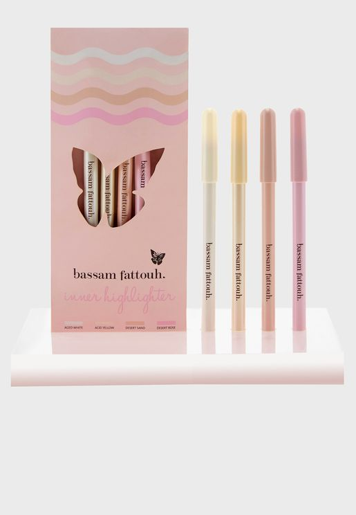 4 Pack Inner Highlighter Pencil - Multicolor
