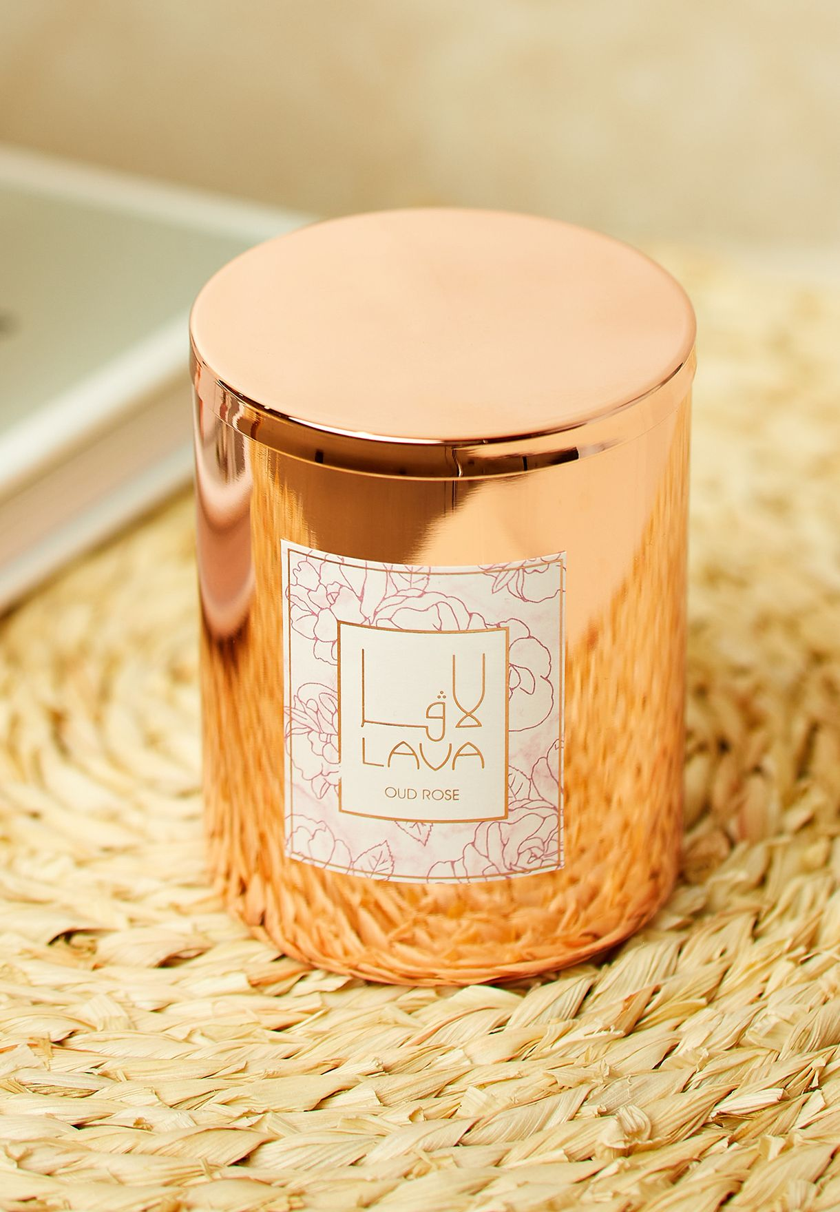 Oud Rose Scented Candle