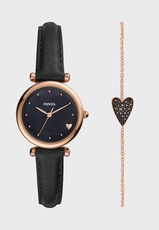 ES4506SET Carlie Watch Gift Set with Bracelet