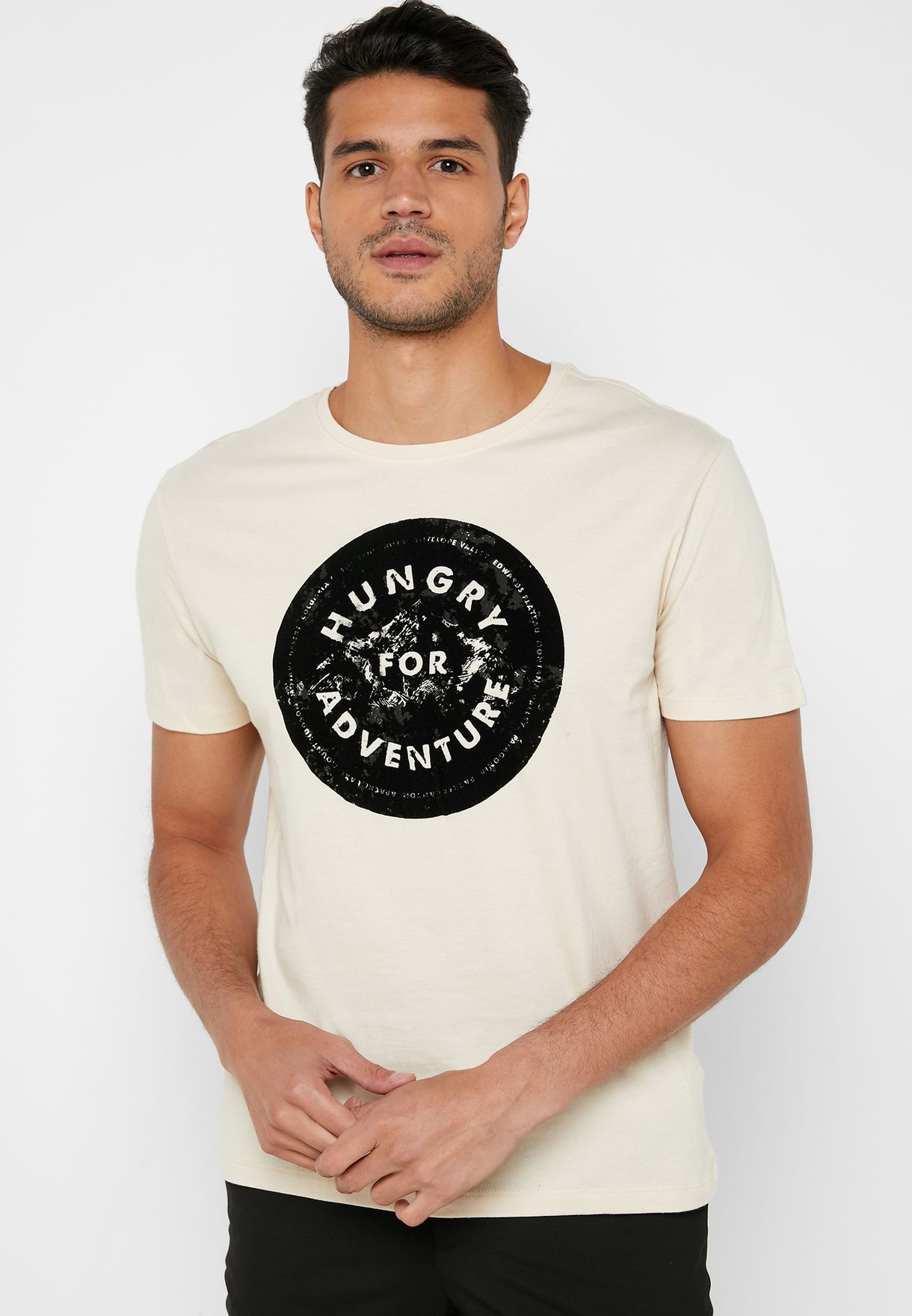 Hungry For Adventure Crew Neck T-Shirt