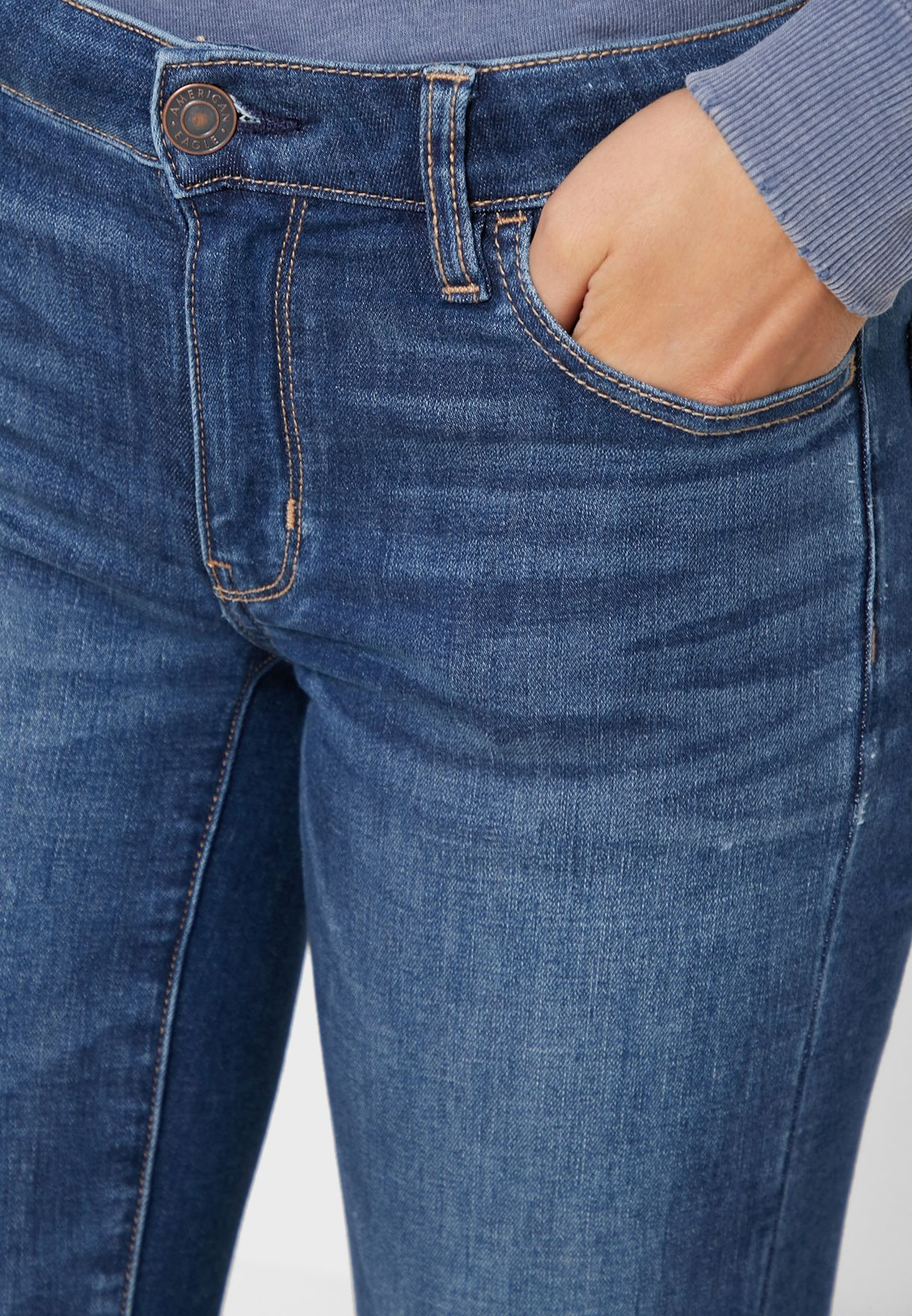 Mid Wash Cropped Jeggings