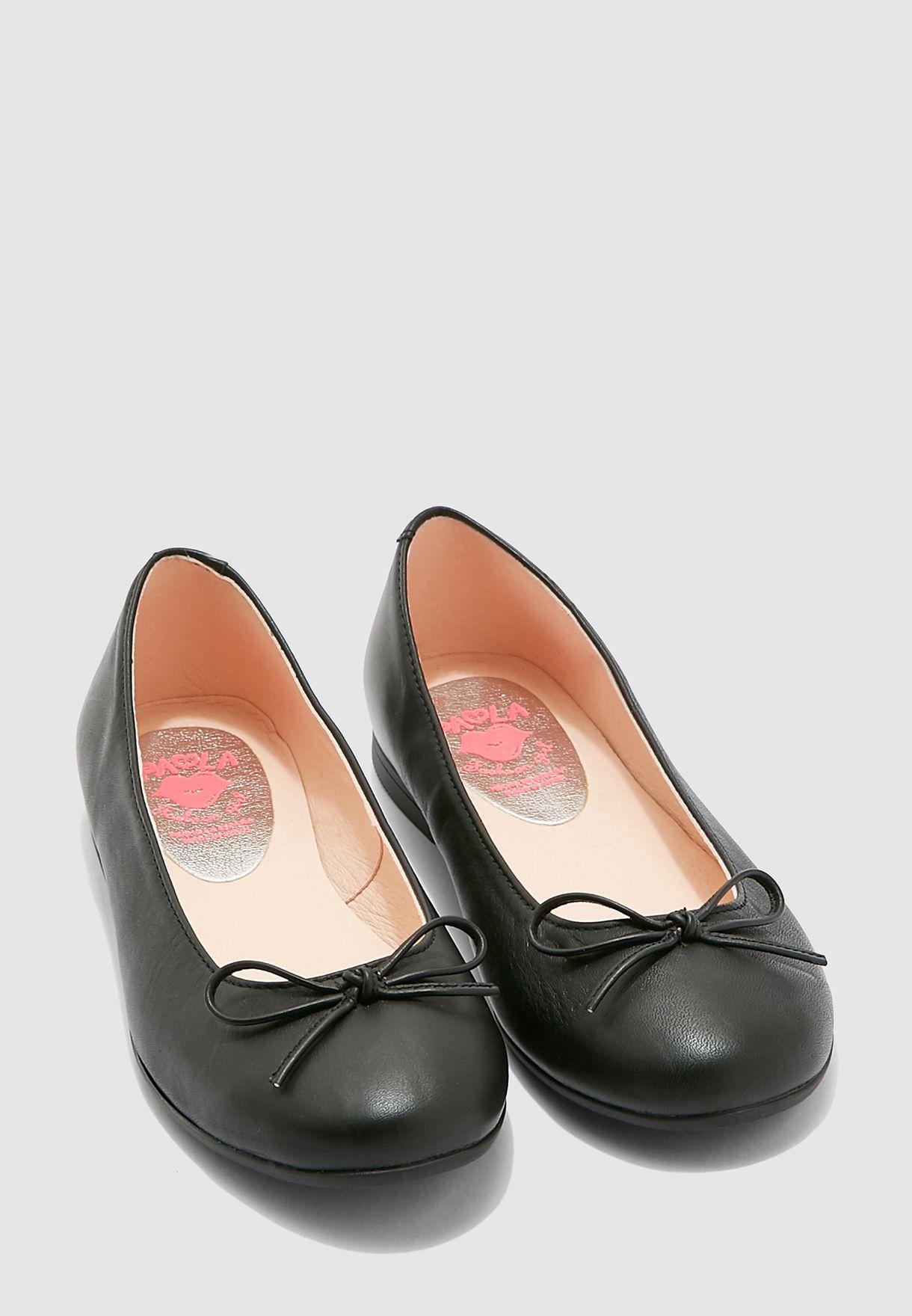 حذاء باليرينا مزين بفيونكة