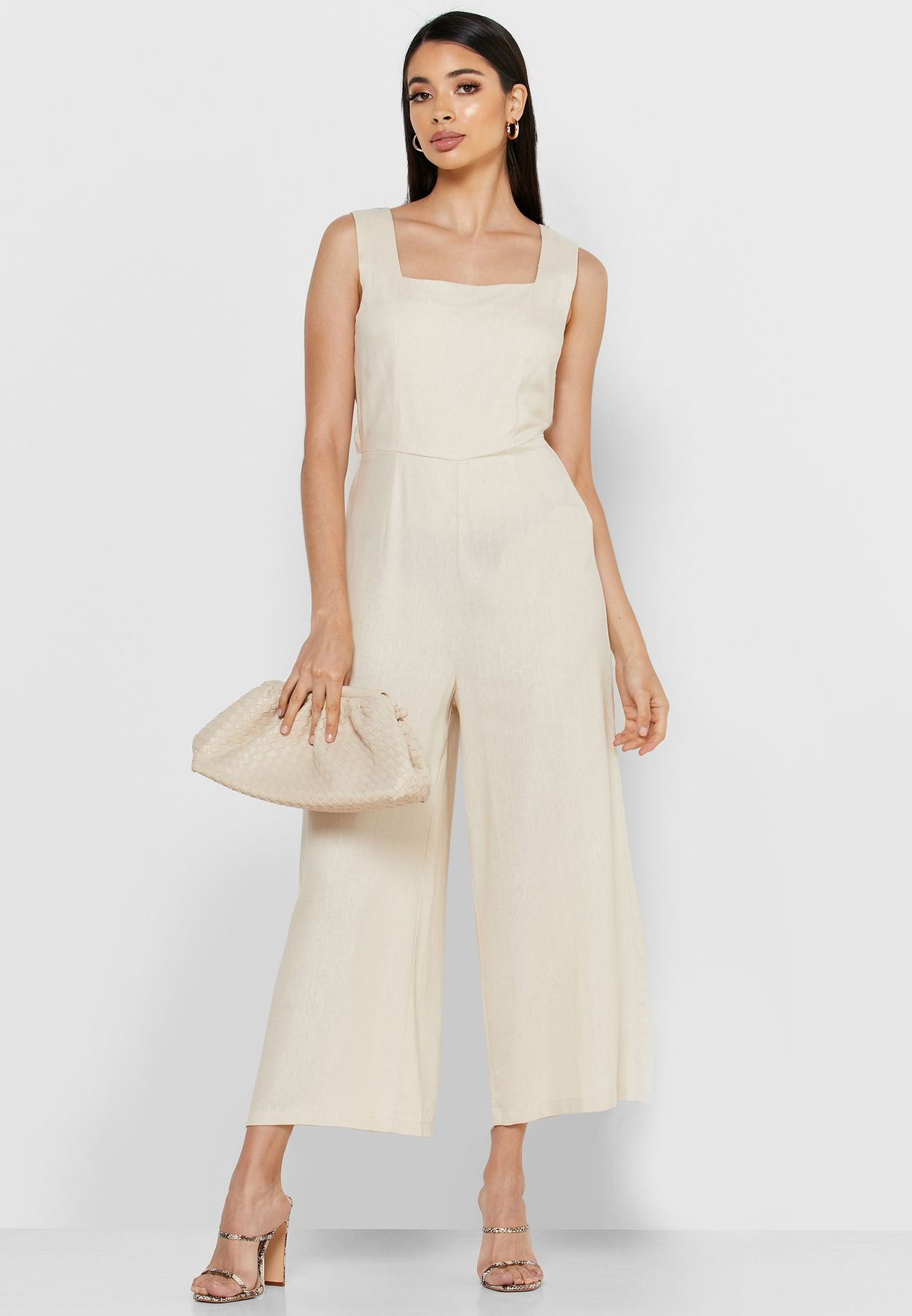 Buy Reserved Beige Wide Leg Jumpsuit For Women, Uae 27648at29ysp