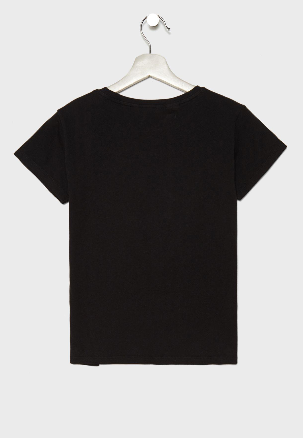 Kids Minnie Mouse Sequin T-Shirt