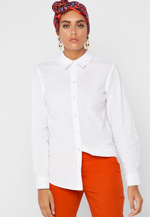 Cuffed Long Sleeve Shirt