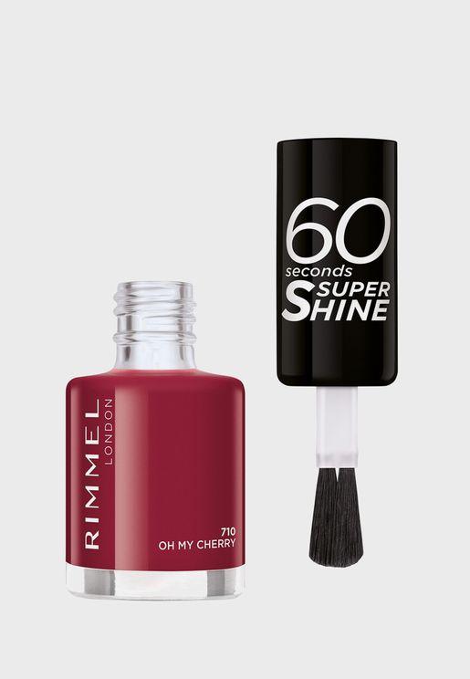 60 Seconds Super Shine Nail Polish 710 Oh My Cherry