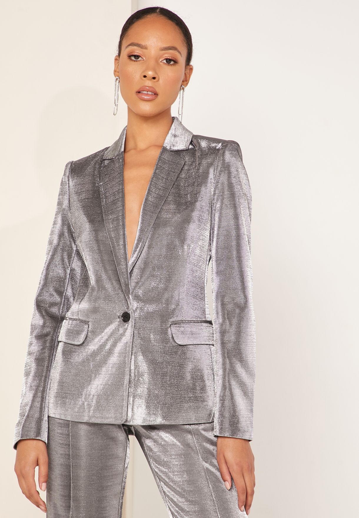 Metallic Oversized Blazer