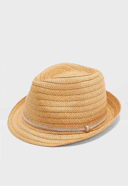 Band Detail Straw Tribly Hat