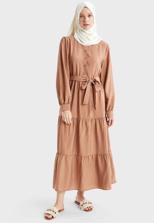فستان بحزام