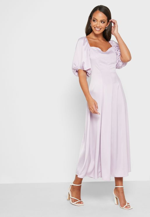 Soft Batwing Sleeve Dress