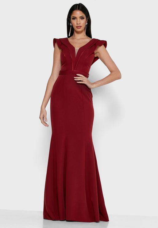 Layered Paneled Maxi Dress