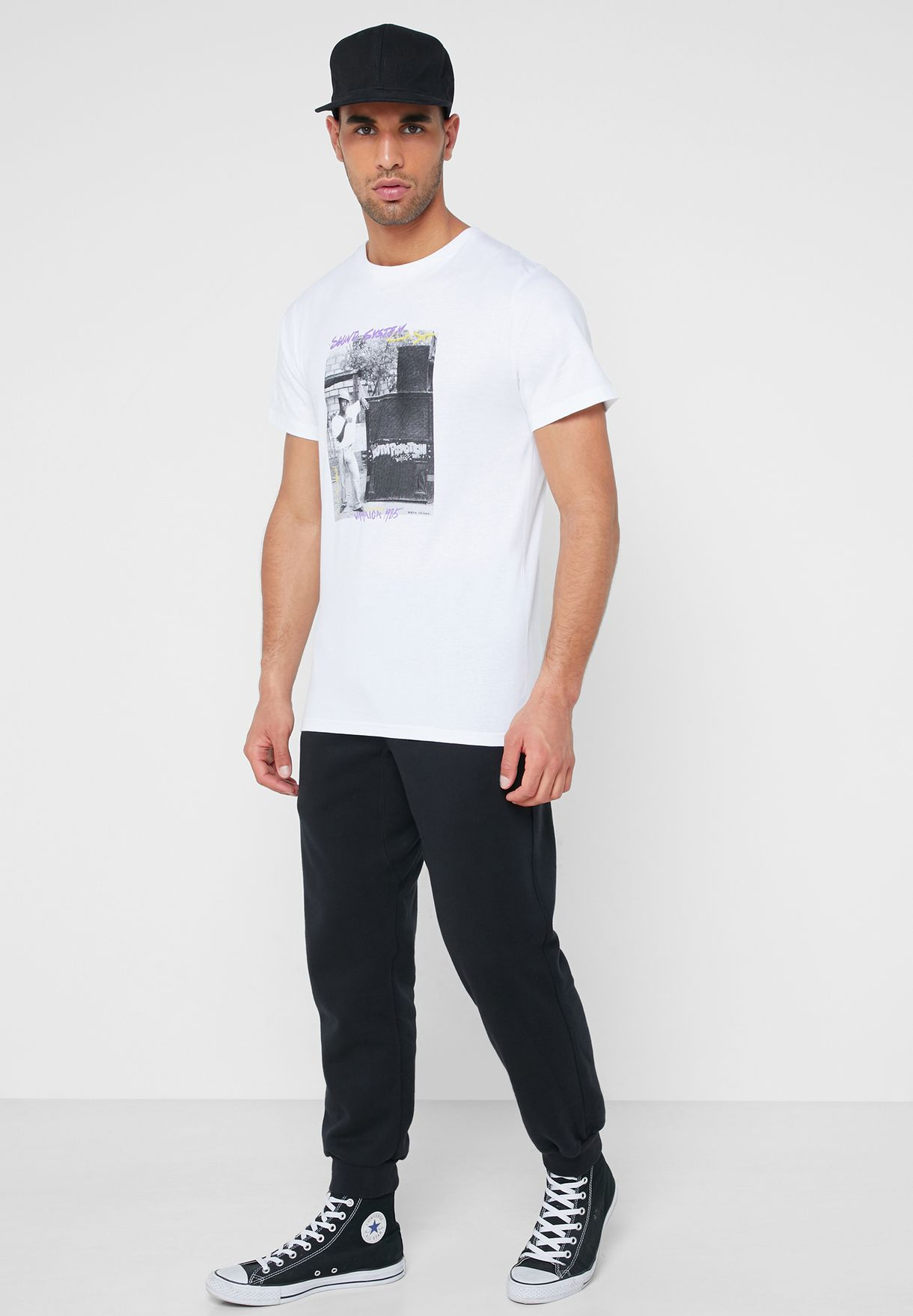 Stockholm Sound Graphic Crew Neck T-Shirt