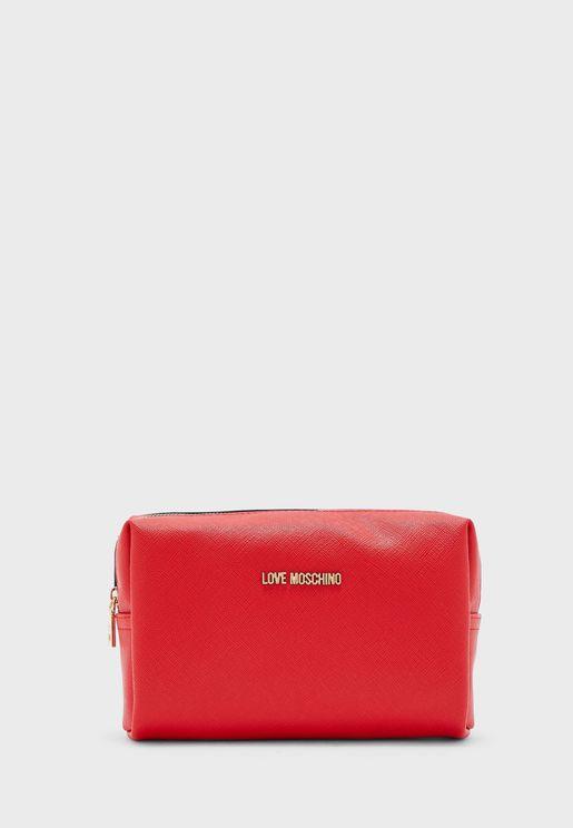 Zip Closure Cosmetic Bag