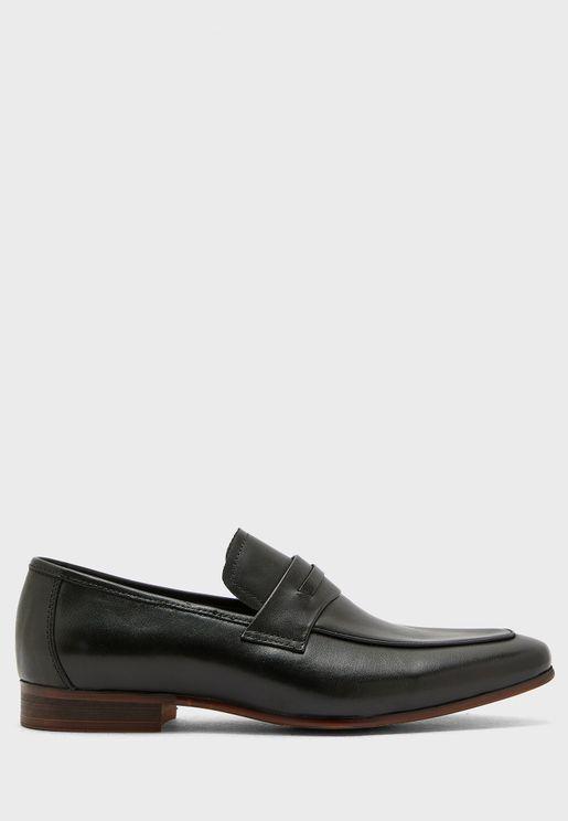 Genuine Leather Formal Slip Ons