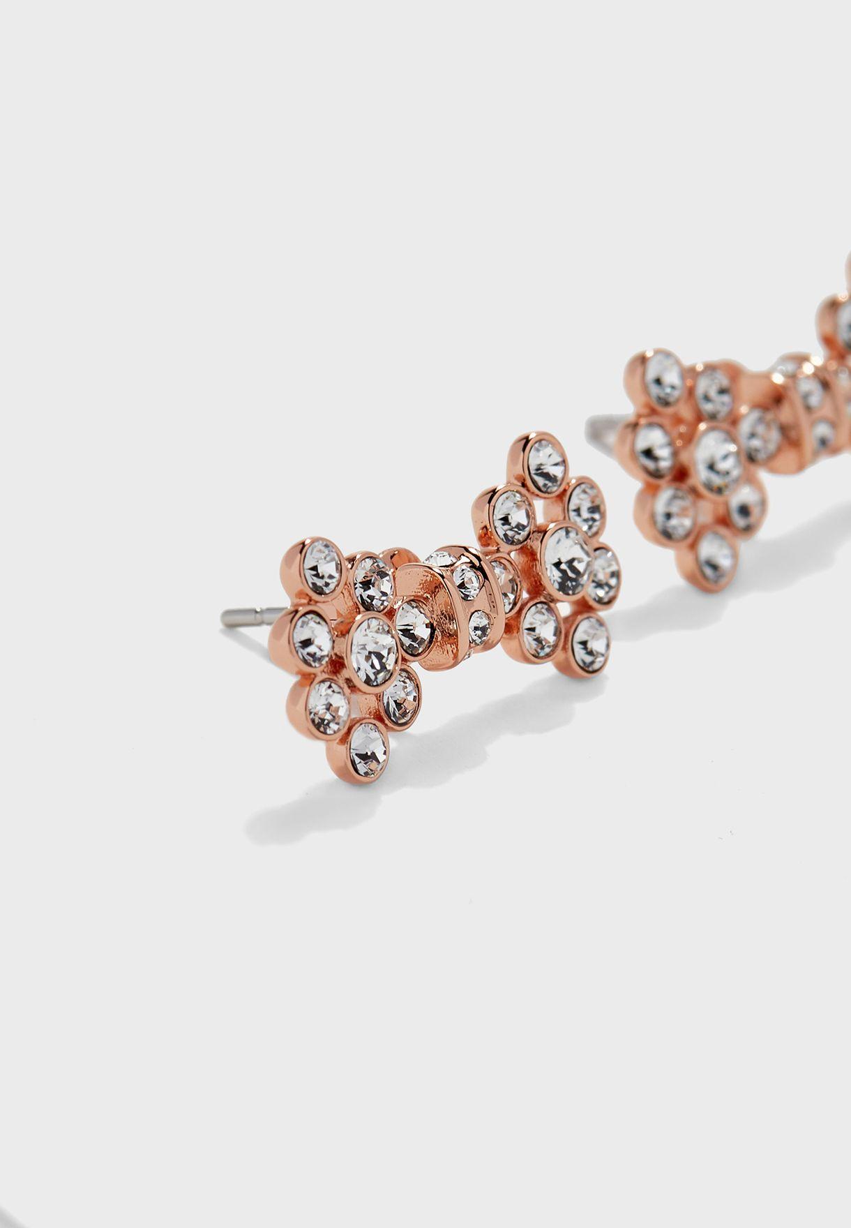 Brinni Small Crystal Bow Stud Earrings