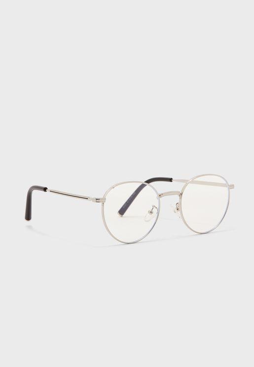 نظارة طبية بعدسات شفافة