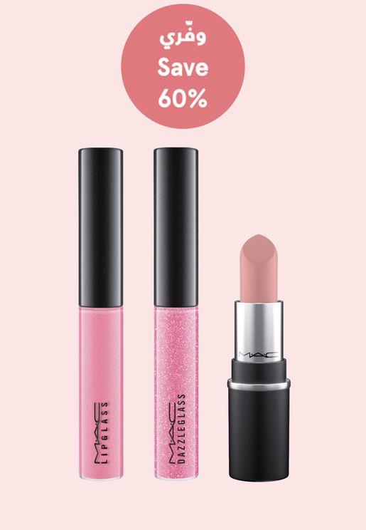 On The Go Pink Mini Lip Kit